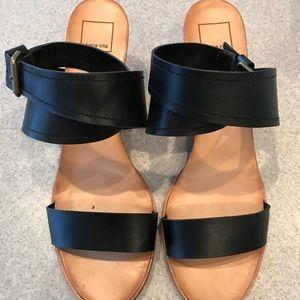 Dolce Vita wrap sandals w/wedge heel
